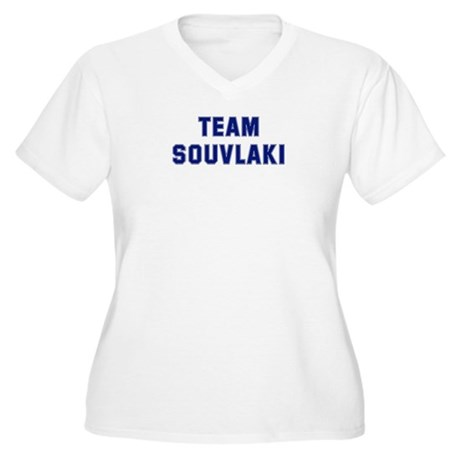 Team SOUVLAKI Women's Plus Size V-Neck T-Shirt