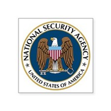 "NSA - NATIONAL SECURITY AGE Square Sticker 3"" x 3"""