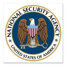 """NSA - NATIONAL SECURITY  Square Car Magnet 3"""" x 3"""""""