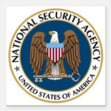 "NSA - NATIONAL SECURITY  Square Car Magnet 3"" x 3"""