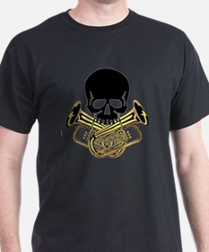 Skull with Tuba Crossbones T-Shirt