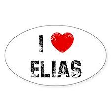 I * Elias Oval Decal