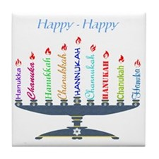 Spelling Chanukah 2 Tile Coaster