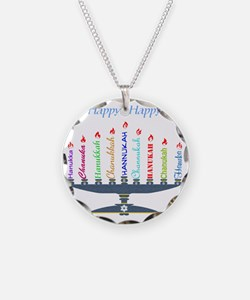 Spelling Chanukah 2 Necklace