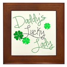 Daddys Lucky Lady Framed Tile