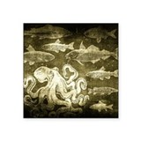 Vintage octopus Bumper Stickers