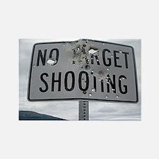 SIGN - NO TARGET SHOOTING Rectangle Magnet