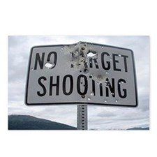 SIGN - NO TARGET SHOOTING Postcards (Package of 8)
