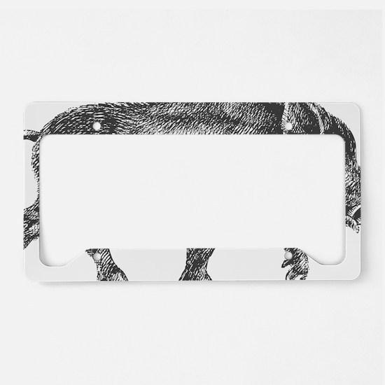 Wild Boar License Plate Holder
