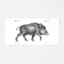 Wild Boar Aluminum License Plate