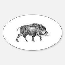 Wild Boar Sticker (Oval)