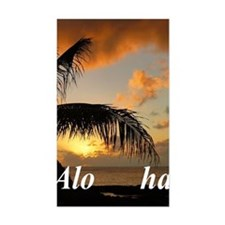 Sunset North Shore Oahu Decal