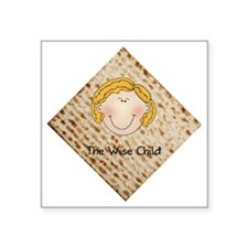 "Wise Child - Girl Square Sticker 3"" x 3"""