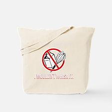 Whisk it black Tote Bag