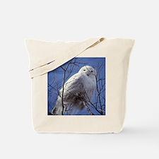 Snowy White Owl Tote Bag