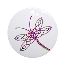 Celtic Dragonfly Round Ornament