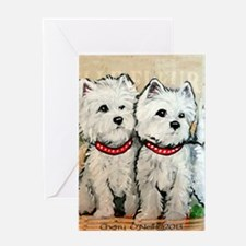 West Highland Terrier Spring Greeting Card