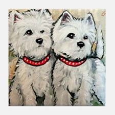 West Highland Terrier Spring Tile Coaster