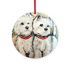 West Highland Terrier Spring Round Ornament