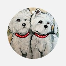 West Highland Terrier Spring Round Ornament