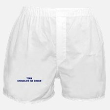 Team CHOCOLATE ICE CREAM Boxer Shorts