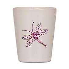 Celtic Dragonfly Shot Glass