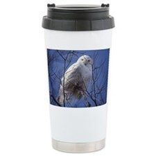 Snowy White Owl Travel Mug
