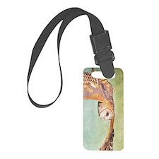 Barn Owl Luggage Tag