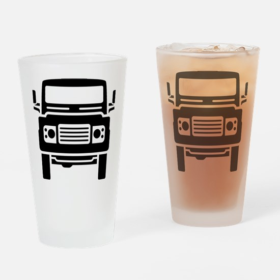 Land Rover illustration Drinking Glass