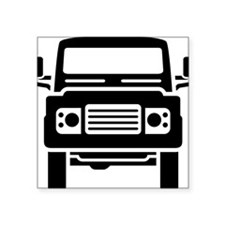 "Land Rover illustration Square Sticker 3"" x 3"""