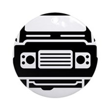 Land Rover illustration Round Ornament