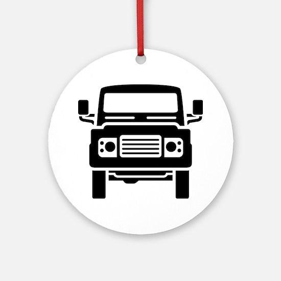 Land Rover illustration Round Ornament