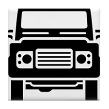 Land Rover illustration Tile Coaster