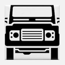 Land Rover illustration Tile Coaster