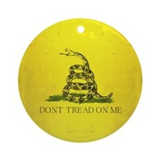 Don't Tread on Me Round Ornament