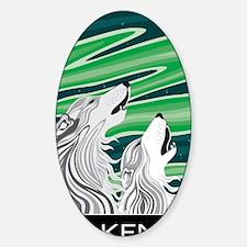 Howling Aurora Huskies Sticker (Oval)