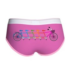 colorful tandem bicycle, team bi Women's Boy Brief