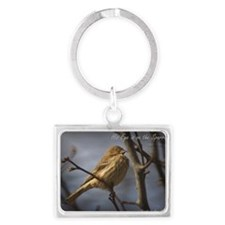Sparrow Landscape Keychain