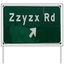 Zzyzx Exit Yard Sign