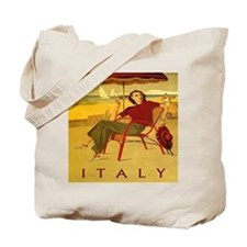 Vintage Woman Italy Beach Tote Bag