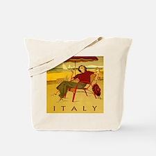 Vintage Woman Italy Beach Tote Bag