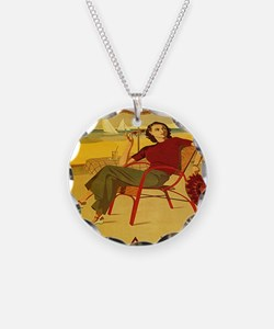 Vintage Woman Italy Beach Necklace