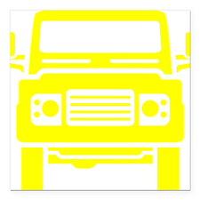 "Land Rover illustration Square Car Magnet 3"" x 3"""