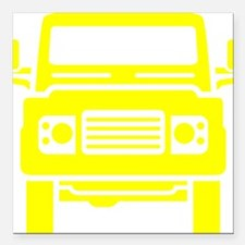 "Land Rover illustration Square Car Magnet 3"" x 3"""