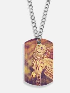 Barred Owl Dog Tags