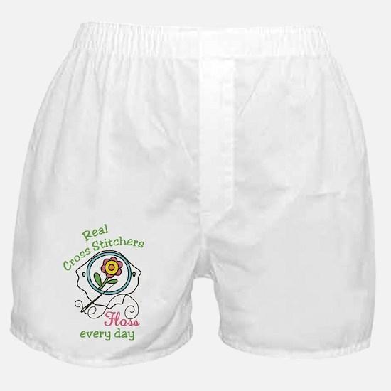 Real Cross Stitchers Boxer Shorts
