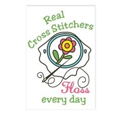 Real Cross Stitchers Postcards (Package of 8)