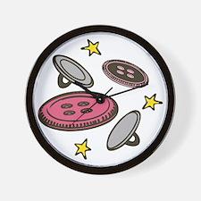 Star Buttons Wall Clock