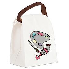 Artist's Palette Canvas Lunch Bag