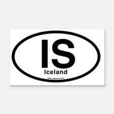 IS - Iceland Oval Rectangle Car Magnet
